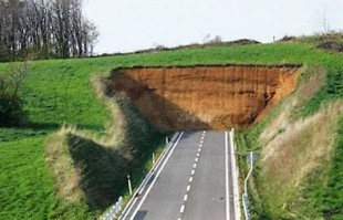 Road going nowhere